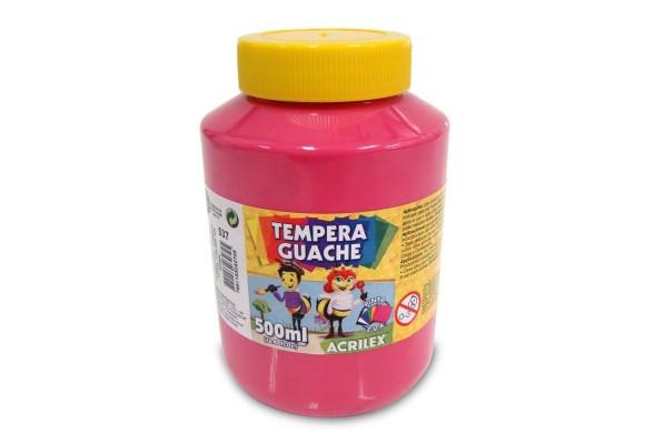 TEMPERA GUACHE ACRILEX PT 500ML ROSA
