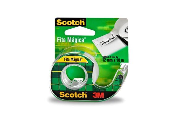 FITA ADESIVA MAGICA SCOTCH 12MMX10M COM SUPORTE 3M