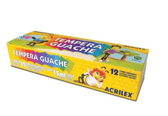 TEMPERA GUACHE ACRILEX COM 12 CORES