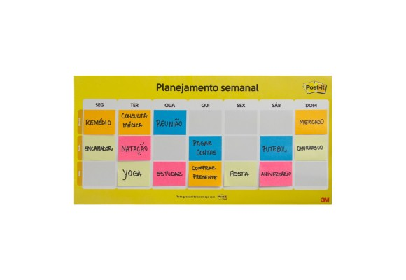CALENDARIO SEMANAL POST-IT C/ 2BL 3M POST-IT CALENDARIO SEMANAL