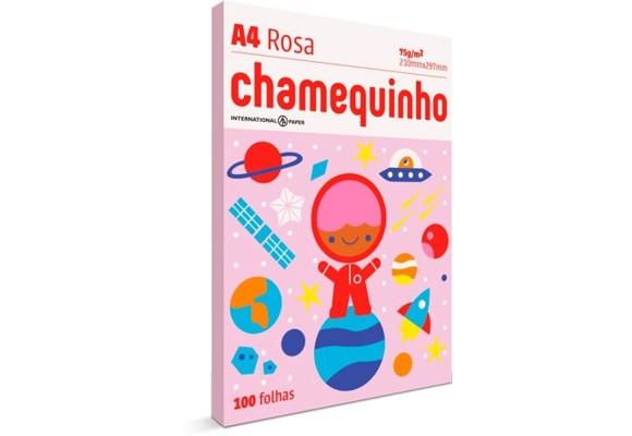 SULFITE CHAMEQUINHO A4 COM 100 FHS ROSA 75G/M