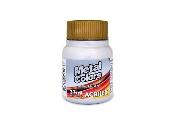 METAL COLORS ACRYLIC 37ML PRATA ACRILEX