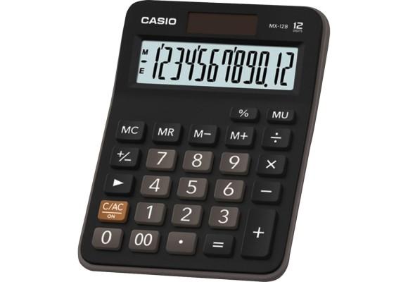 CALCULADORA DE MESA CASIO MX-12B-S4-DC12 PRETA